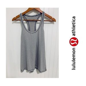 Lululemon white striped Cool Racerback Tank Top 6
